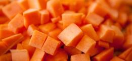 Gulrot er rik på betakaroten, som blir til A-vitamin i kroppen vår