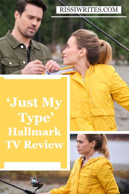 """'Just My Type': The """"Write"""" Kind of Hallmark Romance. A review of the Bethany Joy Lenz and Brett Dalton romance. Text © Rissi JC"""