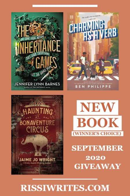 NEW BOOK SEPTEMBER 2020 GIVEAWAY. Another new month and with it, Finding Wonderland again joins another giveaway hop! Come by and enter!