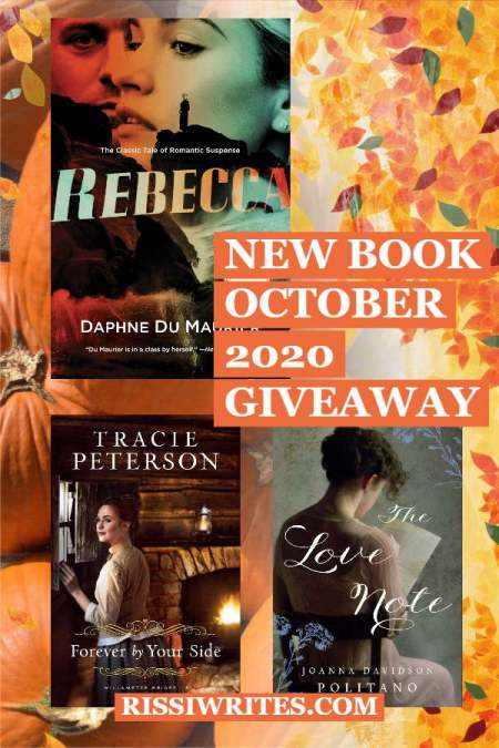 "NEW BOOK OCTOBER 2020 GIVEAWAY. Come by and celebrate with us! It's time for another monthly giveaway (with the usual ""winner's choice"" option)."