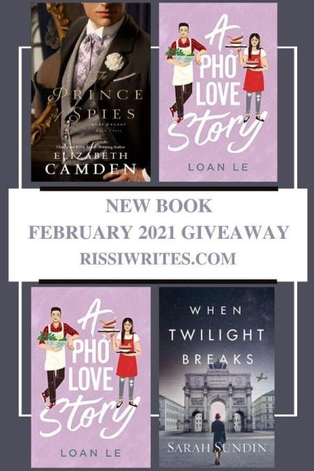 """NEW BOOK FEBRUARY 2021 GIVEAWAY. Features a selection of new February releases as a """"winner's choice"""" giveaway. © Rissi JC"""