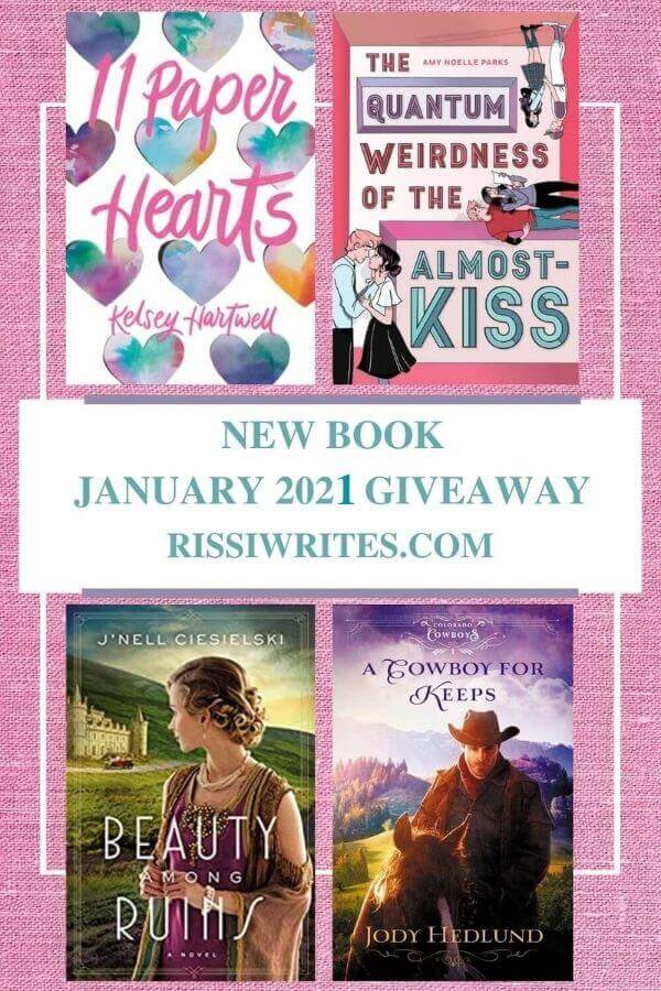 """NEW BOOK JANUARY 2021 GIVEAWAY. Features a selection of new January releases as a """"winner's choice"""" giveaway. © Rissi JC"""