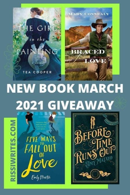 """NEW BOOK MARCH 2021 GIVEAWAY. Features a selection of new March releases as a """"winner's choice"""" giveaway. © Rissi JC"""
