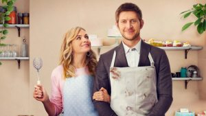 'LOVE IS A PIECE OF CAKE': A FUN SINGLE DAD ROM COM. Reviewing the 2019 film from Reel One, and debuting on UPtv. Text © Rissi JC