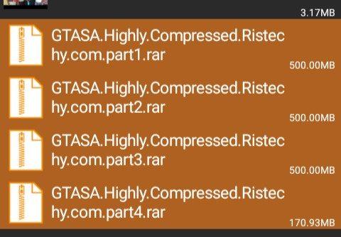 Selected GTA SA Files Using ZArchiver