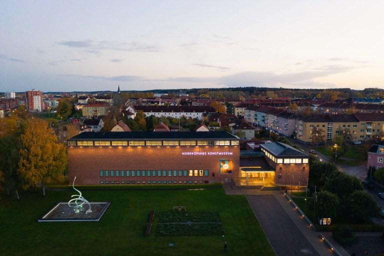 Drönarfoto över Norrköpings Konstmuseum