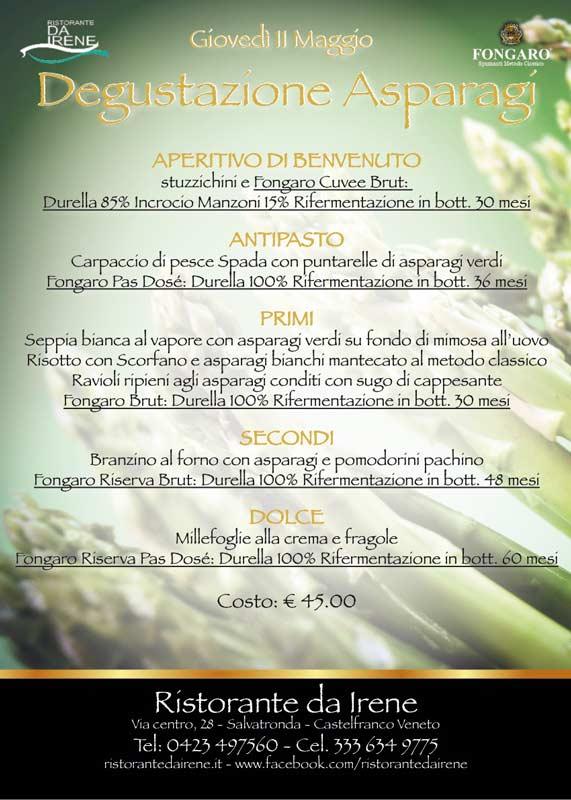Degustazione Asparagi 2017 Metodo Classico Cantina Fongaro