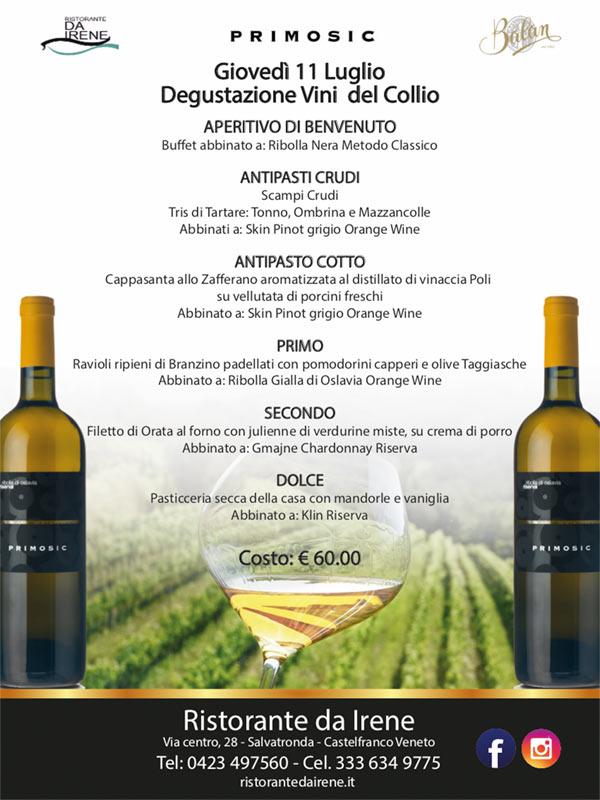 degustazione Primosic vini del collio