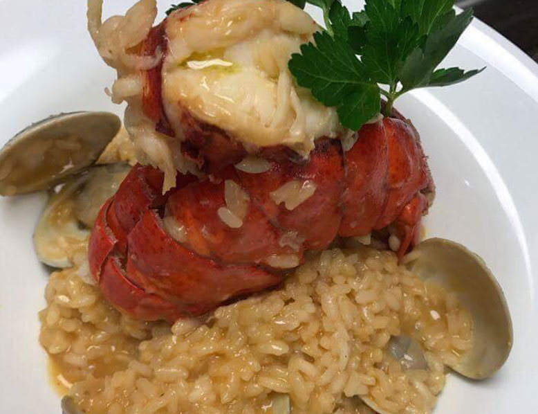 Saffron Risotto with Lobster Tail