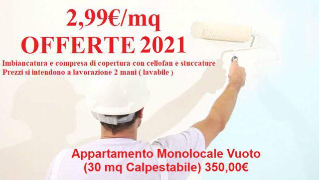 offerta-imbiancatura-appartamento-monolocale 2021
