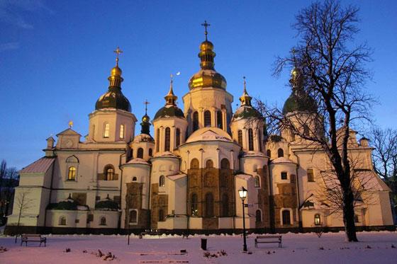 Софія Київська зимою