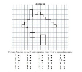 06.Графический диктант по клеточкам для 1 класса