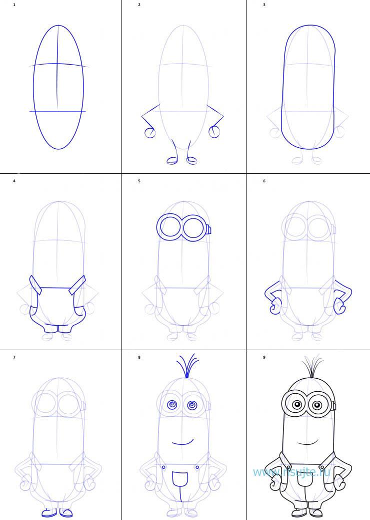 Как нарисовать смешные рисунки поэтапно карандашом, нарисовать открытки