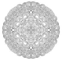 10.Мандала раскраска