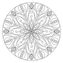 07.Мандала раскраска