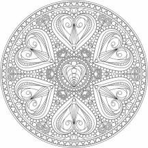 07.мандалы для раскрашивания распечатать