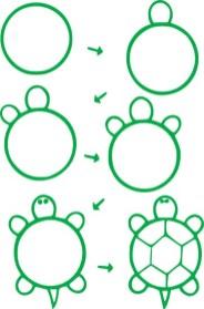02.Поэтапное рисование для детей простые поэтапные рисунки