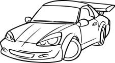 04.Раскраска машины для мальчиков распечатать