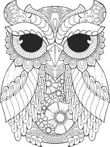 11.Раскраски антистресс совы