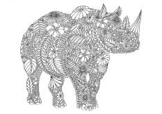 15.Раскраски антистресс животные