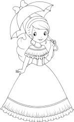 15.Раскраски для девочек распечатать бесплатно формат а4