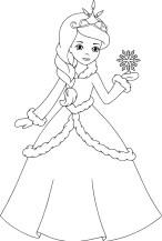 16.Раскраски для девочек распечатать бесплатно принцессы