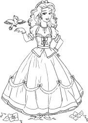 02.Раскраски для девочек распечатать бесплатно принцессы