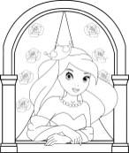 09.Раскраски для девочек распечатать бесплатно принцессы