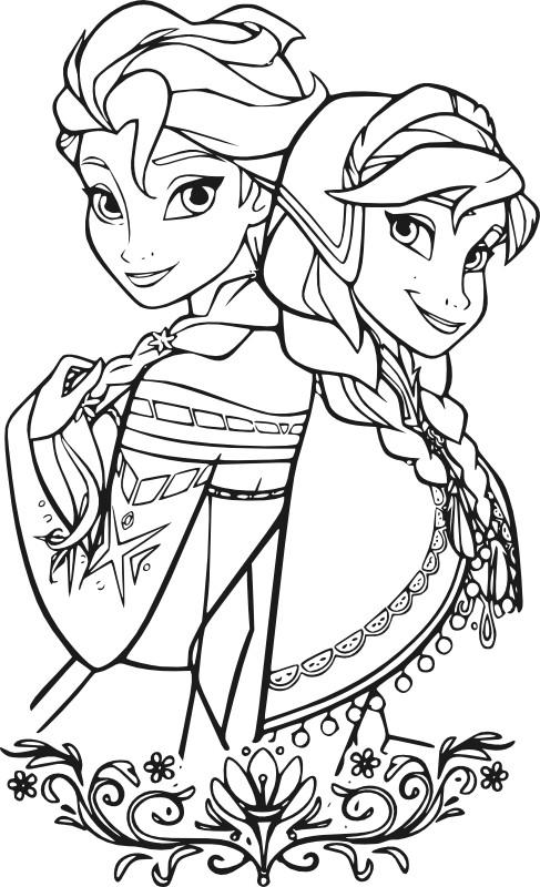 Раскраски для девочек распечатать бесплатно принцессы Диснея