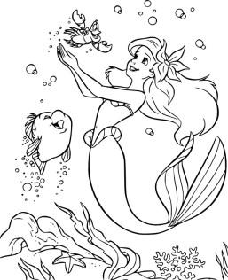 09.Раскраски для девочек распечатать бесплатно принцессы Диснея