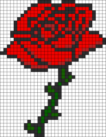 04.Рисунки по клеточкам роза