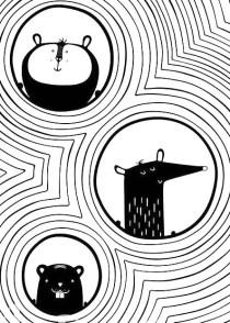 23.чёрно белые картинки для срисовки