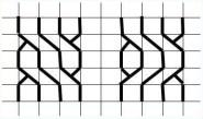 10.Как нарисовать косичку по клеточкам