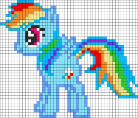 15.Как нарисовать пони по клеточкам