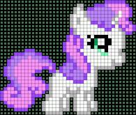 27.Как нарисовать пони по клеточкам