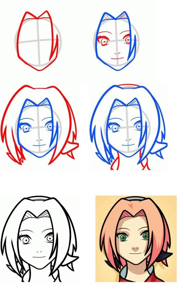 Картинки аниме для срисовки поэтапно