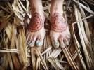 11.мехенди на ноге фото