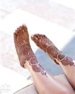 14.мехенди на ноге фото