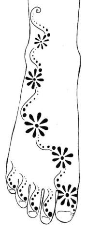 12.мехенди на ноге эскизы