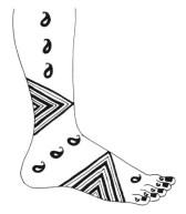 15.мехенди на ноге эскизы