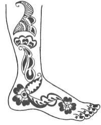 20.мехенди на ноге эскизы