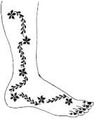 04.мехенди на ноге эскизы