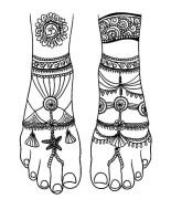 05.мехенди на ноге эскизы