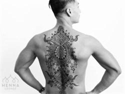 11.мехенди на спине