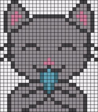 13.рисунки по клеточкам котики