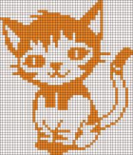 16.рисунки по клеточкам котики