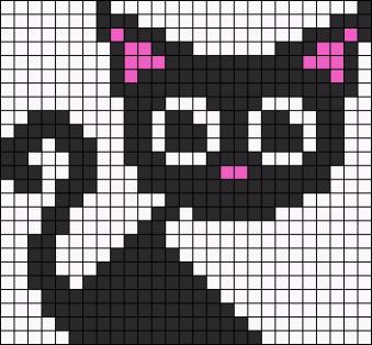 20.рисунки по клеточкам котики