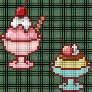 06.рисунки по клеточкам мороженое