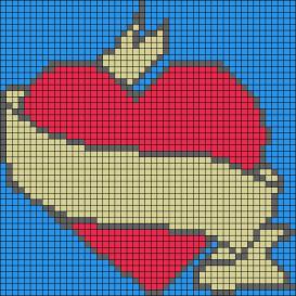 22.рисунки по клеточкам сердечки