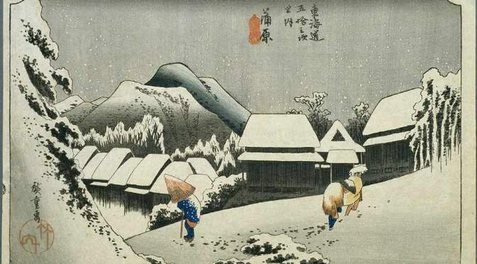 20 — Smelly Work: Hiroshige Snowy Night in Kambara